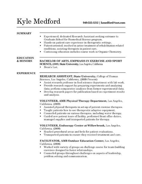 high graduate resume objective high grad