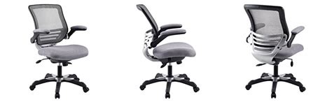 lexmod edge office chair with gray mesh back and mesh