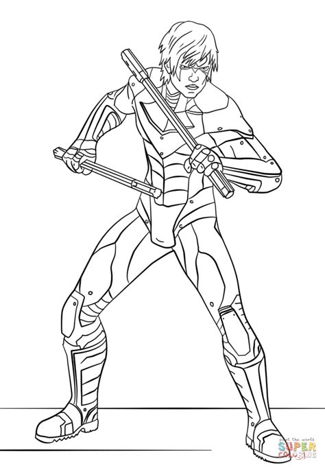 nightwing coloring pages nightwing from arkham city coloring page free printable