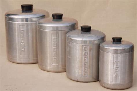retro kitchen canisters vintage spun aluminum canisters mid century retro kitchen