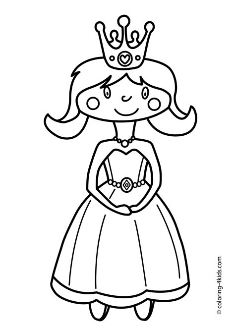 Gratis Kleurplaat Prinses by Princesse Coloring Pages For Printable