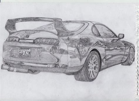 Toyota Supra Mk4 Drawing By Remumisa On Deviantart
