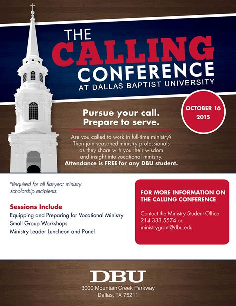 calling conference dallas baptist university