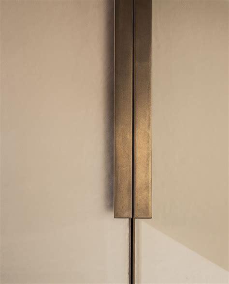 echlin leather wardrobe door  bronze handle  inlay