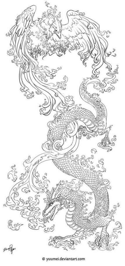 69+ New Ideas tattoo dragon design phoenix #tattoo #design | Dragon tattoo designs, Phoenix
