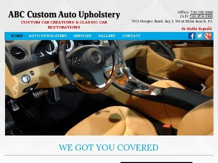 Upholstery West Palm Fl by Abc Custom Auto Upholstery Auto Seat Repairs West Palm
