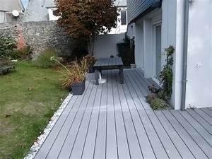 Pose Lame Terrasse Composite : pose d 39 une terrasse et store banne par renov habitat ~ Premium-room.com Idées de Décoration