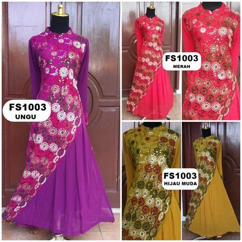baju gamis pesta sari india hijab nemo