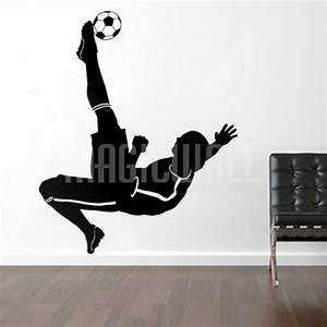 wall decals soccer football player sports magic wall With football wall decals