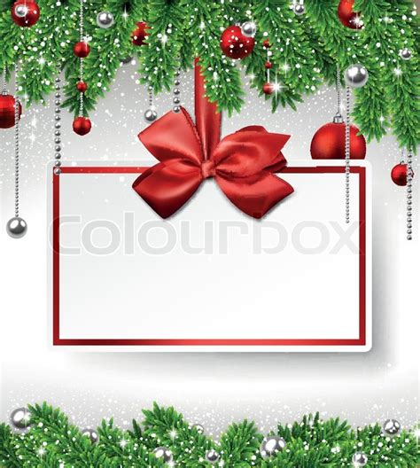 christmas wallpaper invitations background with fir twigs and stock vector colourbox