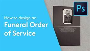 Free Leaflet Template How To Design A Funeral Order Of Service Booklet In Adobe