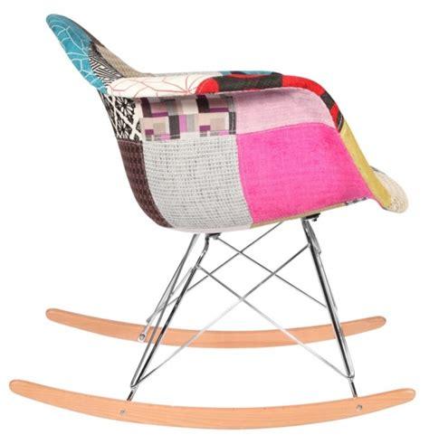 chaise a bascule rar chaise à bascule rar patchwork style eames secret design