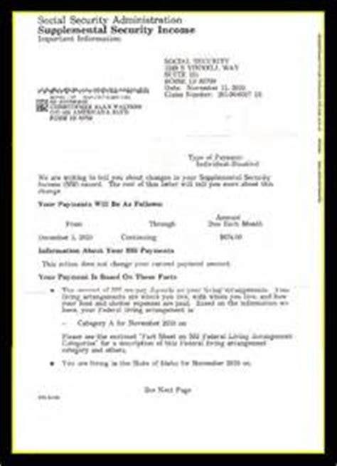 award letter social security social security award letter sle letter of recommendation