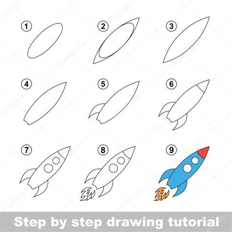 How To Draw A Tiny Boat by Tutorial De Desenho Como Desenhar Um Foguete De Brinquedo