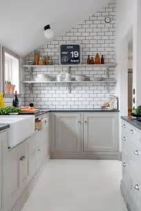 kitchen inspiration white tiles black grout
