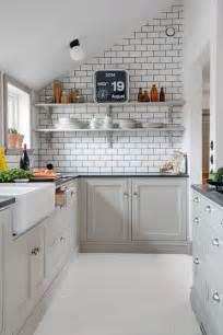 black and white tile kitchen ideas decordots kitchen inspiration white tiles black grout