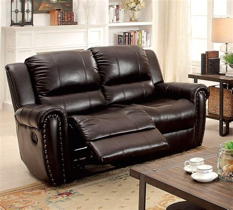 Top Grain Leather Recliner Sofa by Dorset Traditional Brown Dual Reclining Sofa Loveseat In