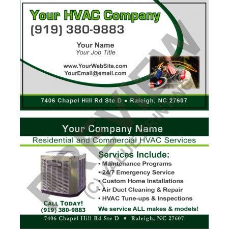 hvac business card  hvac sticker