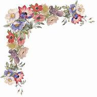 Vintage Flower Corner Borders Clip Art