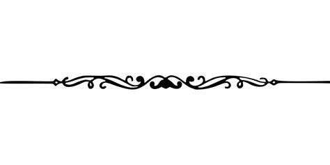 Decorative Divider Lines - divider decorative flourish 183 free vector graphic on pixabay