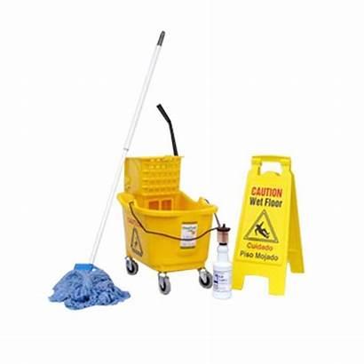 Mop Bucket Floor Wringer Package Mopping Wet