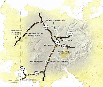 Ancients Trail Byway Map Scenic Colorado National