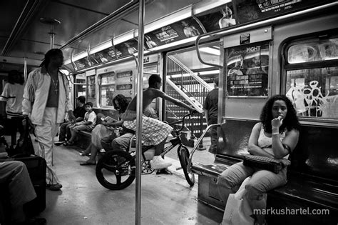 Bike On Subway 168th St  Street Photography By Markus