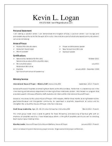 Pastor Resume Template by Youth Ministry Template Lera Mera