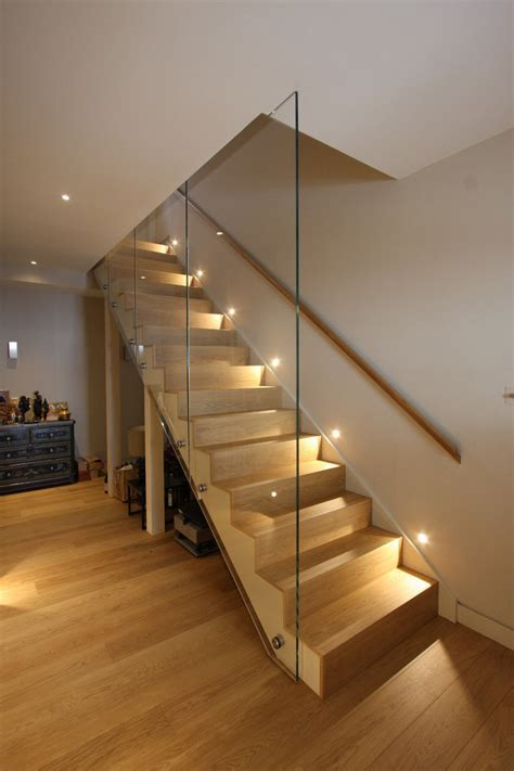 stairway lighting Staircase Contemporary with agrarian