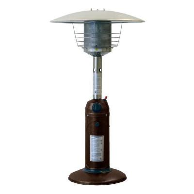 az patio heaters 11 000 btu portable hammered bronze gas