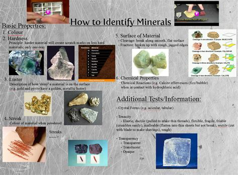 ways minerals can form how do geologists identify minerals