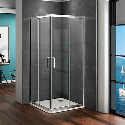 Shower Glass Door Double Sliding Corner Entry