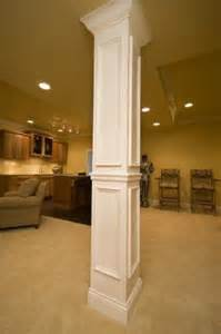 basement wrap how to cover a support pole in the basement add value to