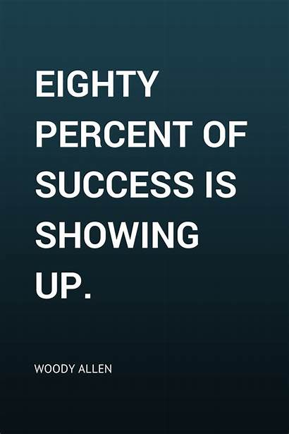 Quotes Allen Woody Success Showing Resilience Percent