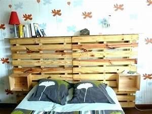 Faire Une Tête De Lit En Bois : tete lit bois de palette rangement comment faire une en ~ Melissatoandfro.com Idées de Décoration