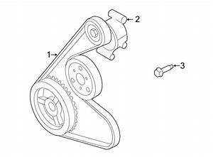 Ford Escape Accessory Drive Belt Tensioner Assembly  Liter