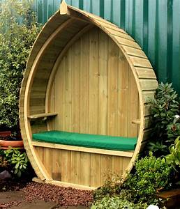 Boat, Shaped, Garden, Arbour, With, Built, In, Storage, Under, The, Seat