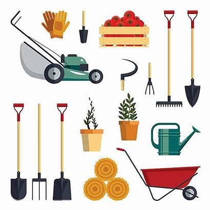 Tools Farm Garden Vector Shovel Instruments Icon
