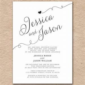 wedding invitations modern elegant printed on pearlized With printing wedding invitations on cardstock
