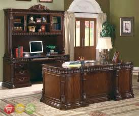 Furniture Desk Sets by Union Hill 3 Executive Desk Set Wood Hutch Office