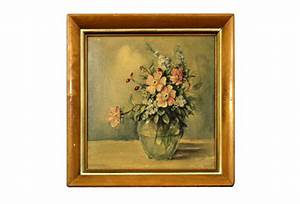 Vintage Framed Floral Painting | Omero Home