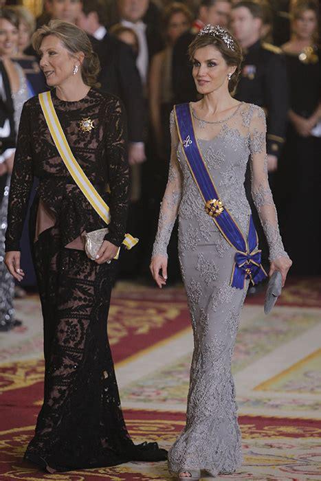 Queen Letizia Spain Wears Glittering Tiara For Gala