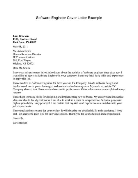 Mechanical Engineering Internship Cover Letter by Engineer Cover Letter Format For Mechanical Engineering