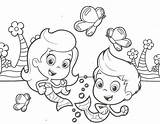 Coloring Print Guppies Bubble Pages sketch template