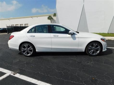 The front seats are comfortable and feature supportive. 2019 Mercedes C CLASS SEDAN WHITE 3   Evolution Leasing