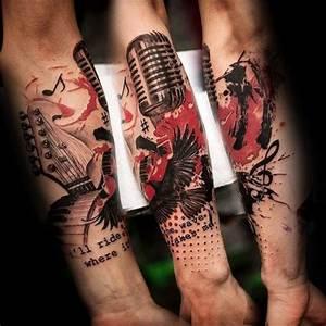 Mini Tattoos Männer : 1000 ideas about music note tattoos on pinterest music tattoos small music tattoos and music ~ Frokenaadalensverden.com Haus und Dekorationen