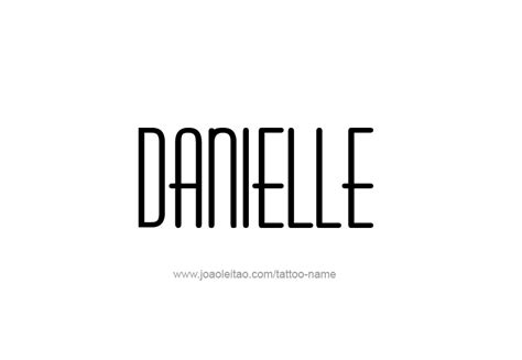 danielle  tattoo designs