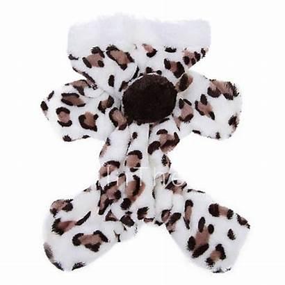 Dog Clothes Leopard Brown Jumpsuit Pajamas Hoodie