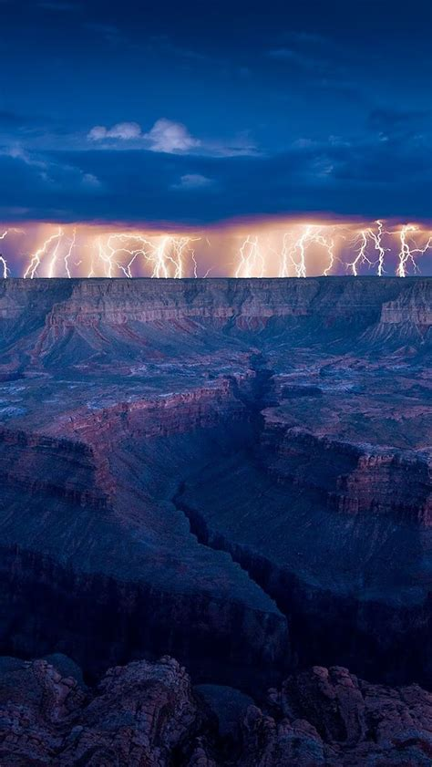 Lightning Storm Over Grand Canyon Arizona