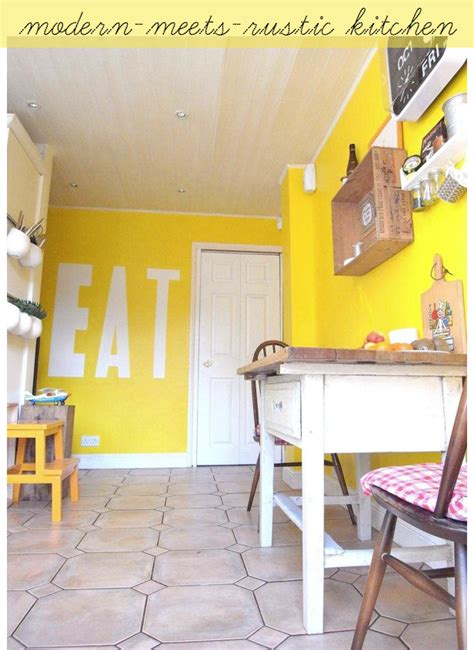 Yellow Kitchen With A Rustic Twist  Bright Bazaar By Will